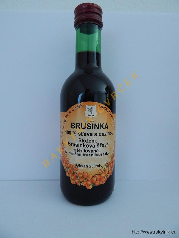 Brusinka 100% šťáva 250ml