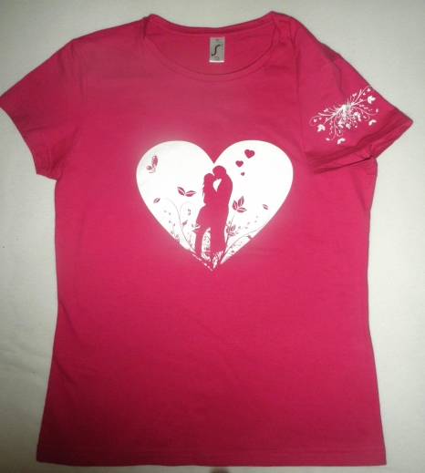 6b1405c6dd00 Tričko Valentýn - růžové