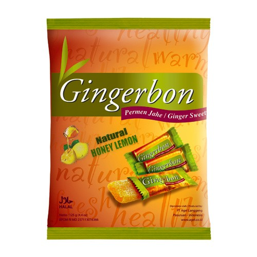 Zázvorové bonbóny Gingerbon Honey Lemon 125g