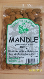Mandle natural 100 g